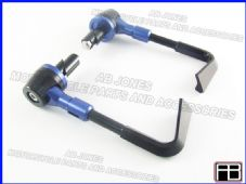 PAIR FRONT BRAKE AND CLUTCH LEVER PROTECTORS BLUE TRACK DAY, RACE, STREETBIKE
